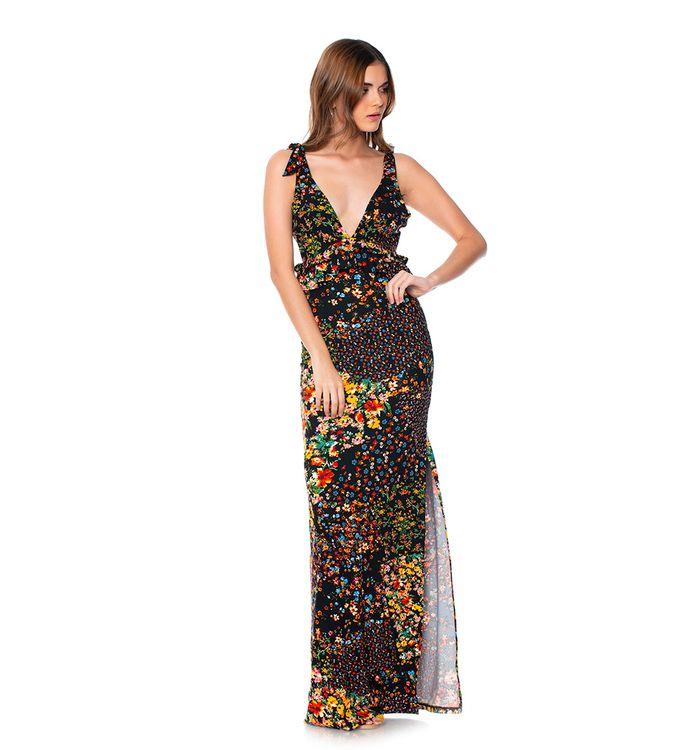 Vestido Largo Con Doble Bolero Y Amarres Ref S140634 - Studio F Mexico 4a7bd9e826df