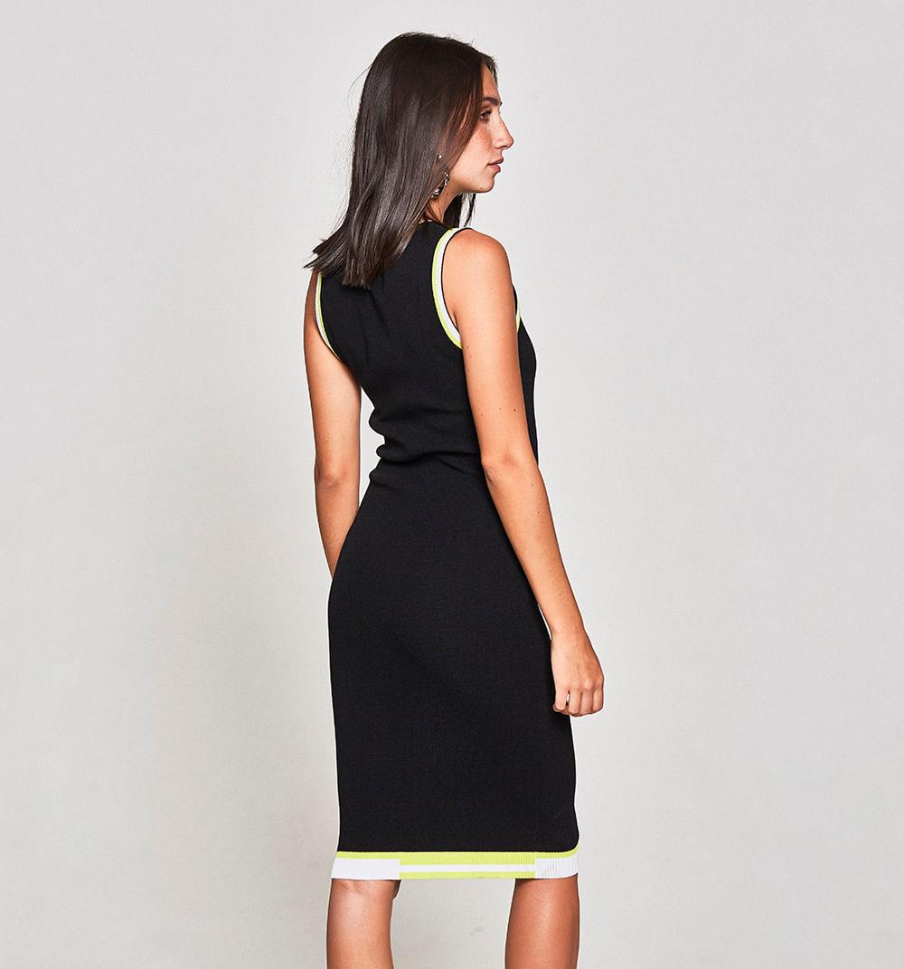 200ed0a8bf39a Seleccione talla y color. Información de Producto. Vestido Corto Con Borde  En Contraste