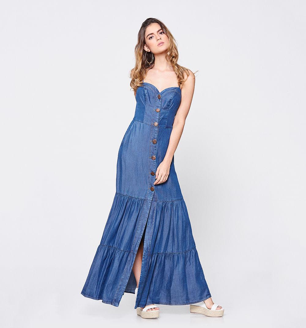 Vestido Largo De Tiras